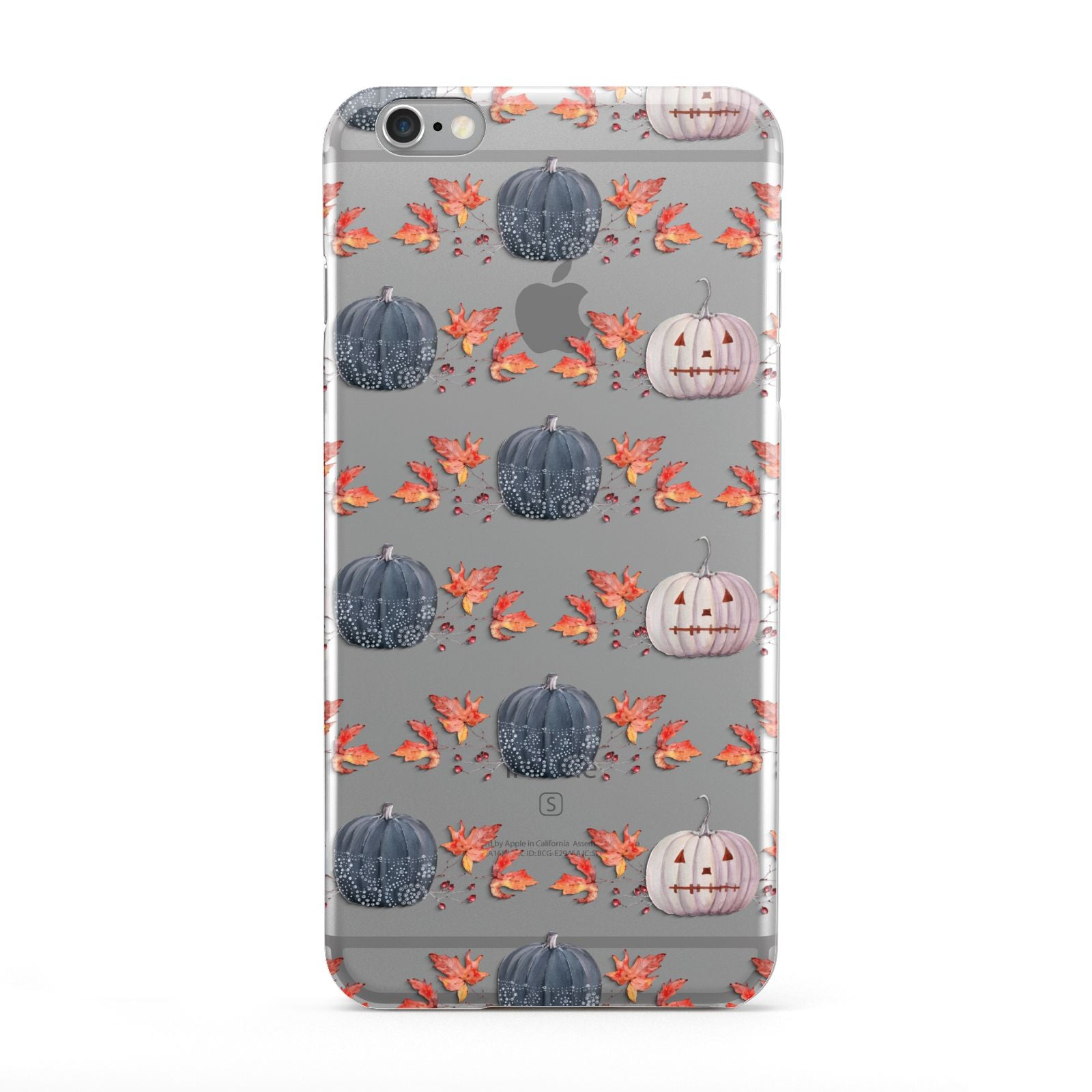 Pumpkin Autumn Leaves Apple iPhone 6 Plus Case