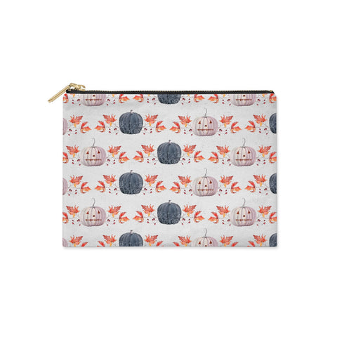 Pumpkin & Autumn Leaves Clutch Bag