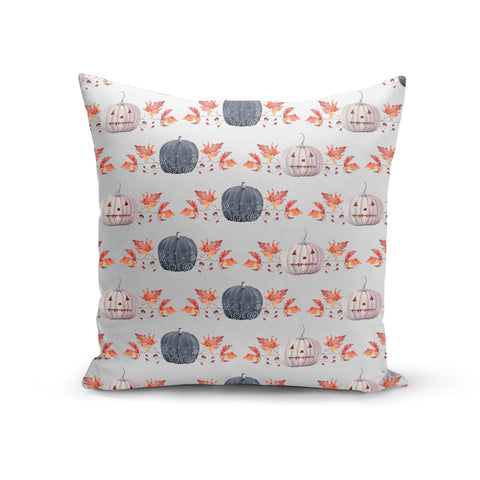 Pumpkin & Autumn Leaves Cushion