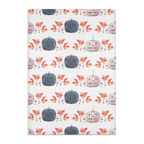Pumpkin & Autumn Leaves Tea Towel
