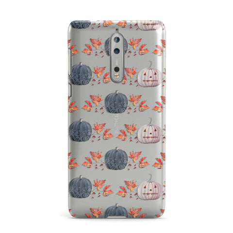 Pumpkin & Autumn Leaves Nokia Case