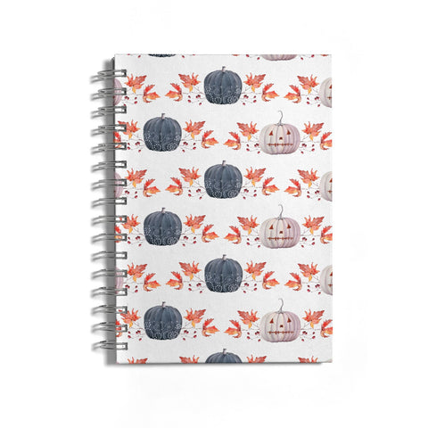 Pumpkin & Autumn Leaves Notebook