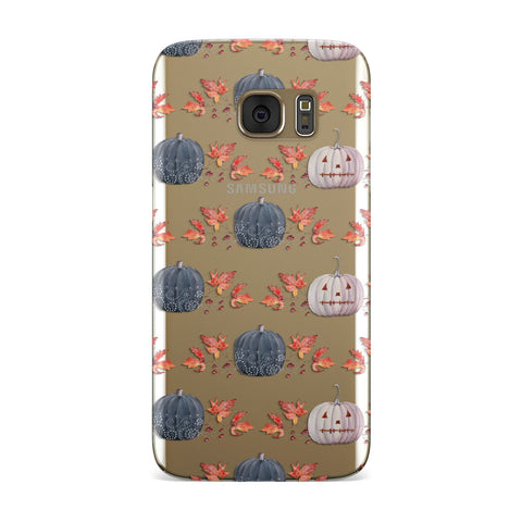 Pumpkin & Autumn Leaves Samsung Galaxy Case