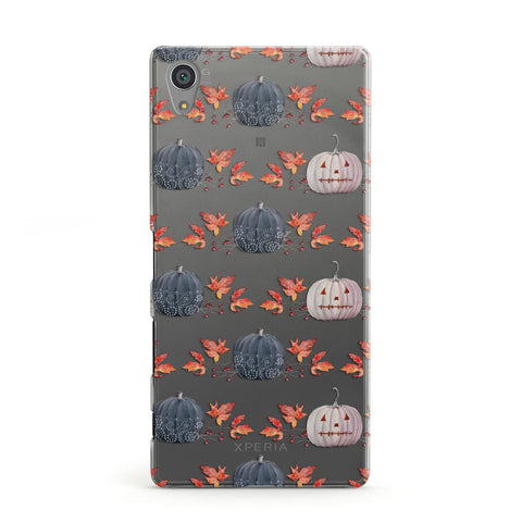 Pumpkin & Autumn Leaves Sony Case
