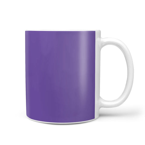 Purple Personalised Initials Mug