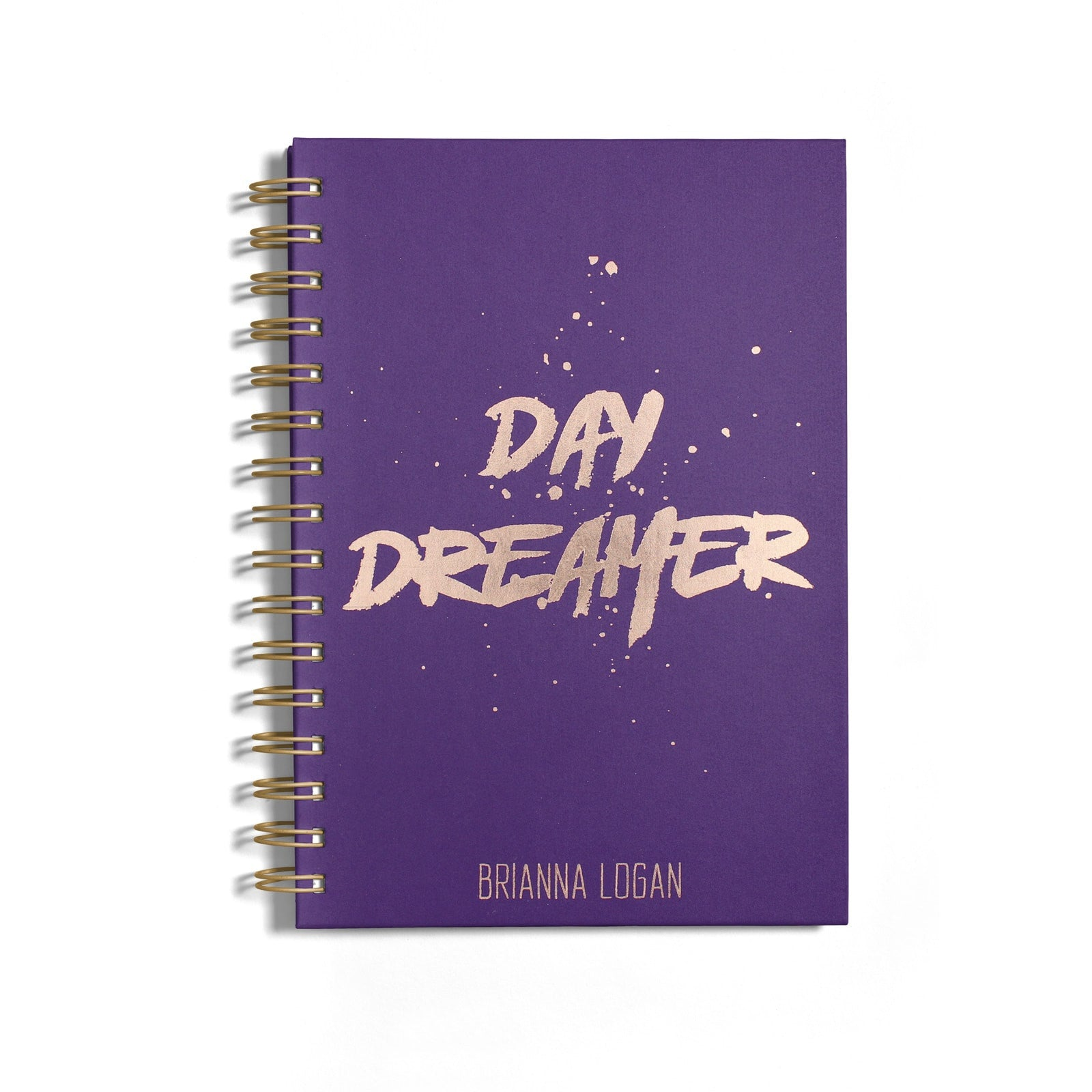 Personalised Rose Gold Foil Day Dreamer Notebook