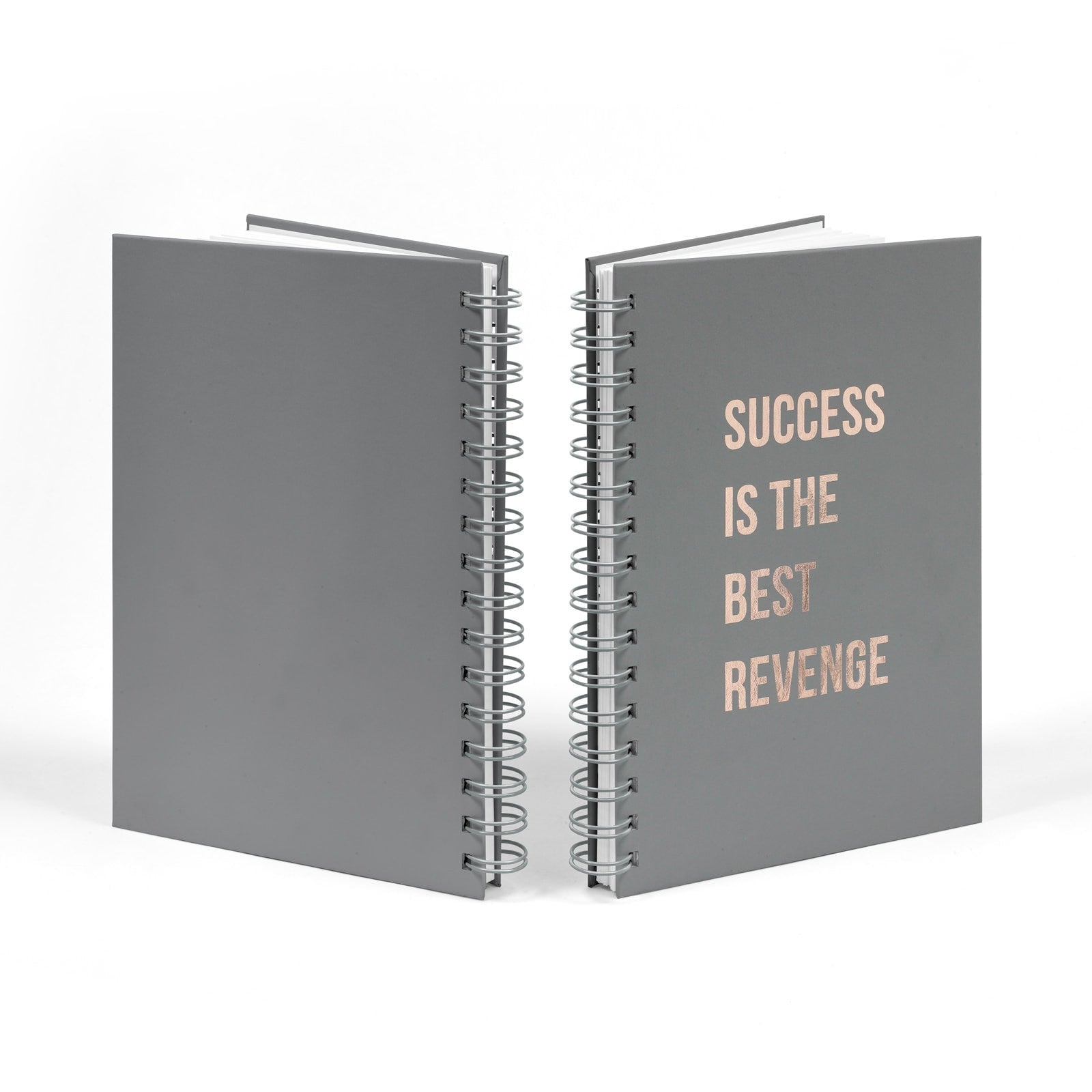 Rose Gold Foil Success is the Best Revenge Notebook Front & Back