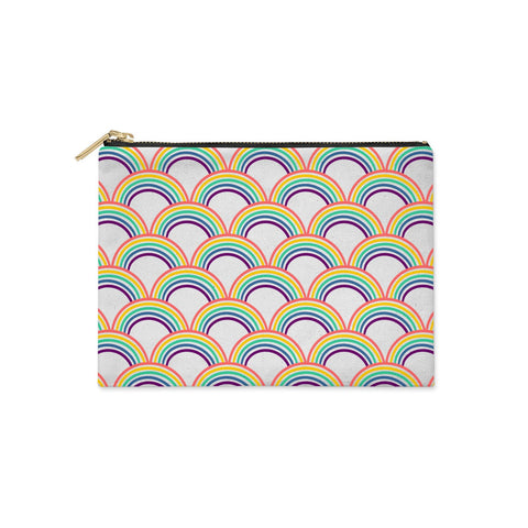 Rainbow Pattern Clutch Bag