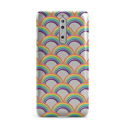 Rainbow Pattern Nokia Case