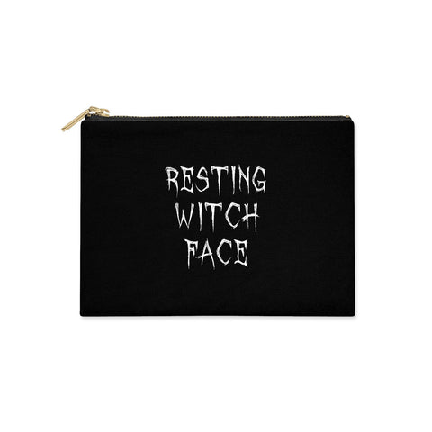 Resting Witch Face Clutch Bag
