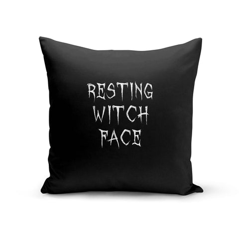 Resting Witch Face Cushion