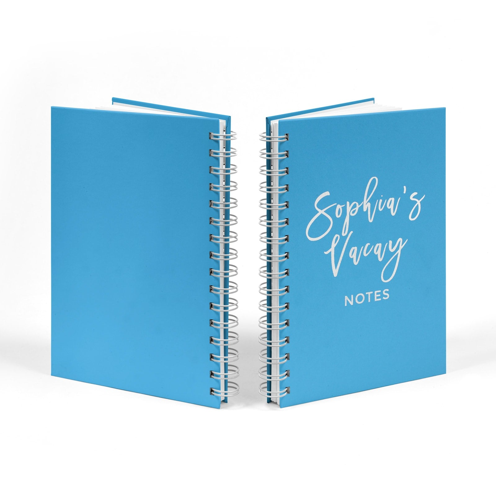 Personalised Silver Foil Vacay Notebook Standing