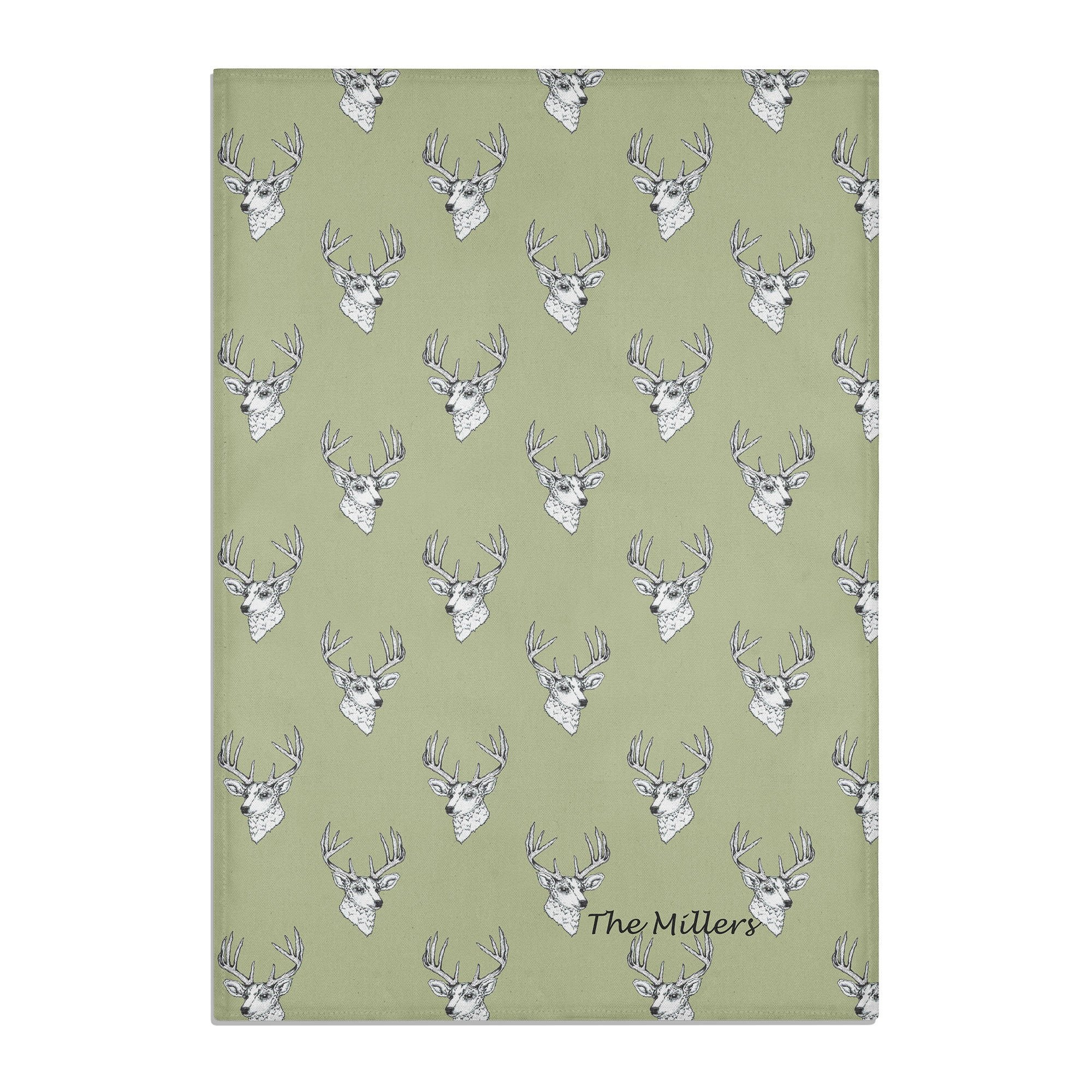 STAG TEA TOWEL PERSONALISED