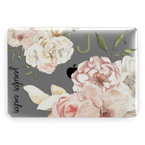 Spring Flowers Personalised Name Macbook Case
