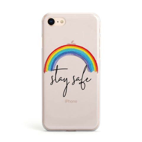 Stay Safe Rainbow iPhone Case