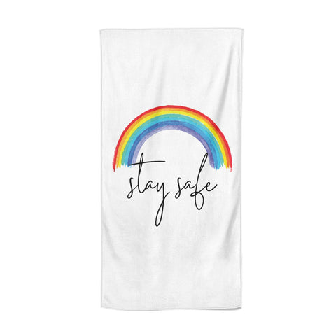 Stay Safe Rainbow Beach Towel