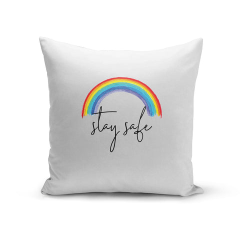 Stay Safe Rainbow Cushion