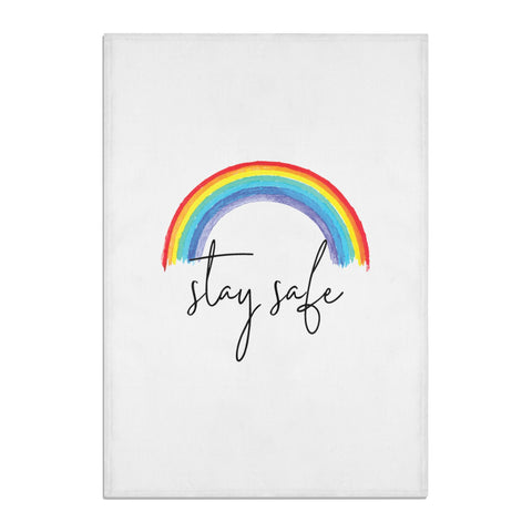 Stay Safe Rainbow Tea Towel
