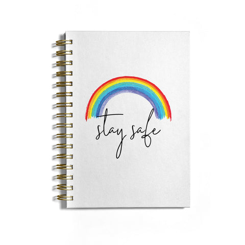 Stay Safe Rainbow Notebook