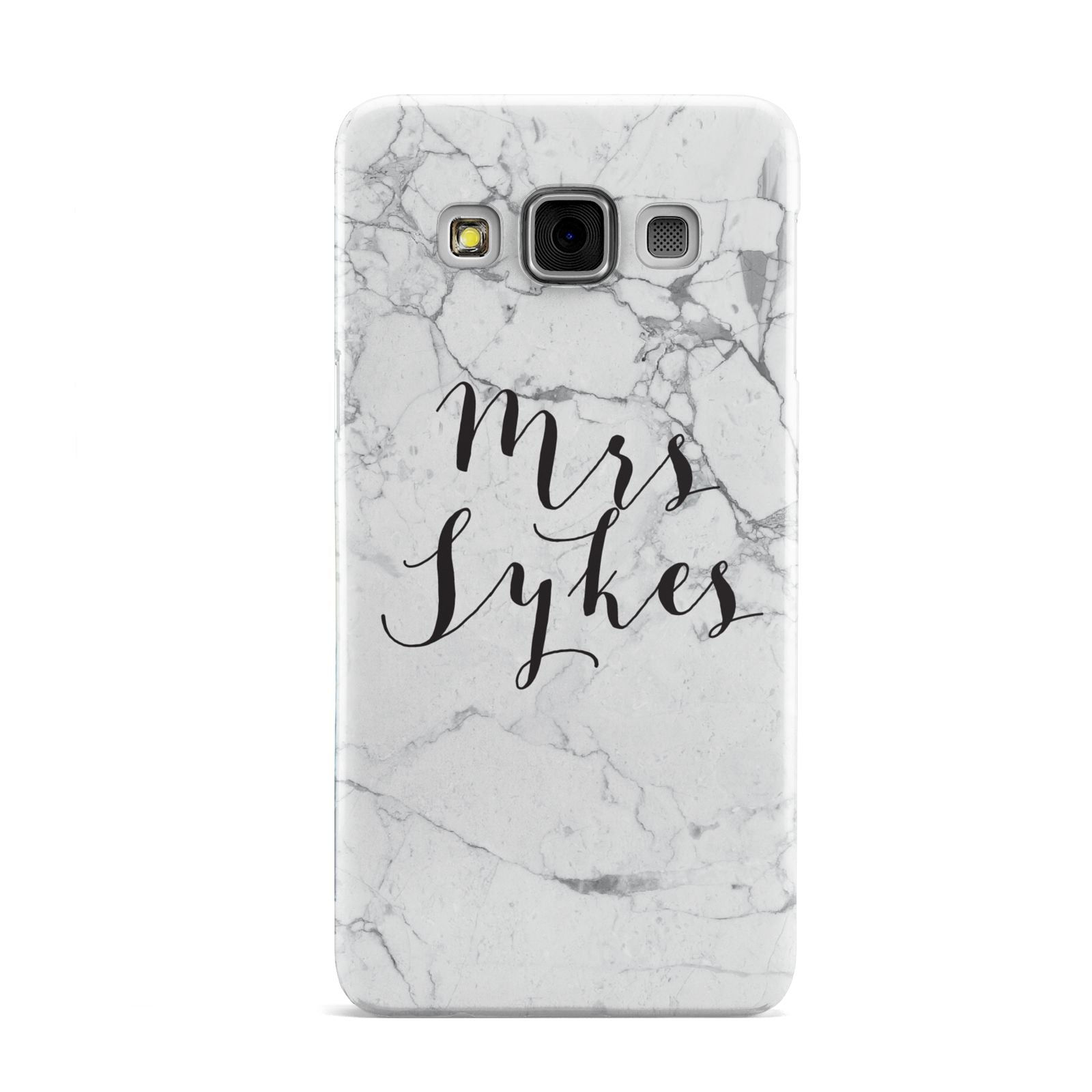 Surname Personalised Marble Samsung Galaxy A3 Case