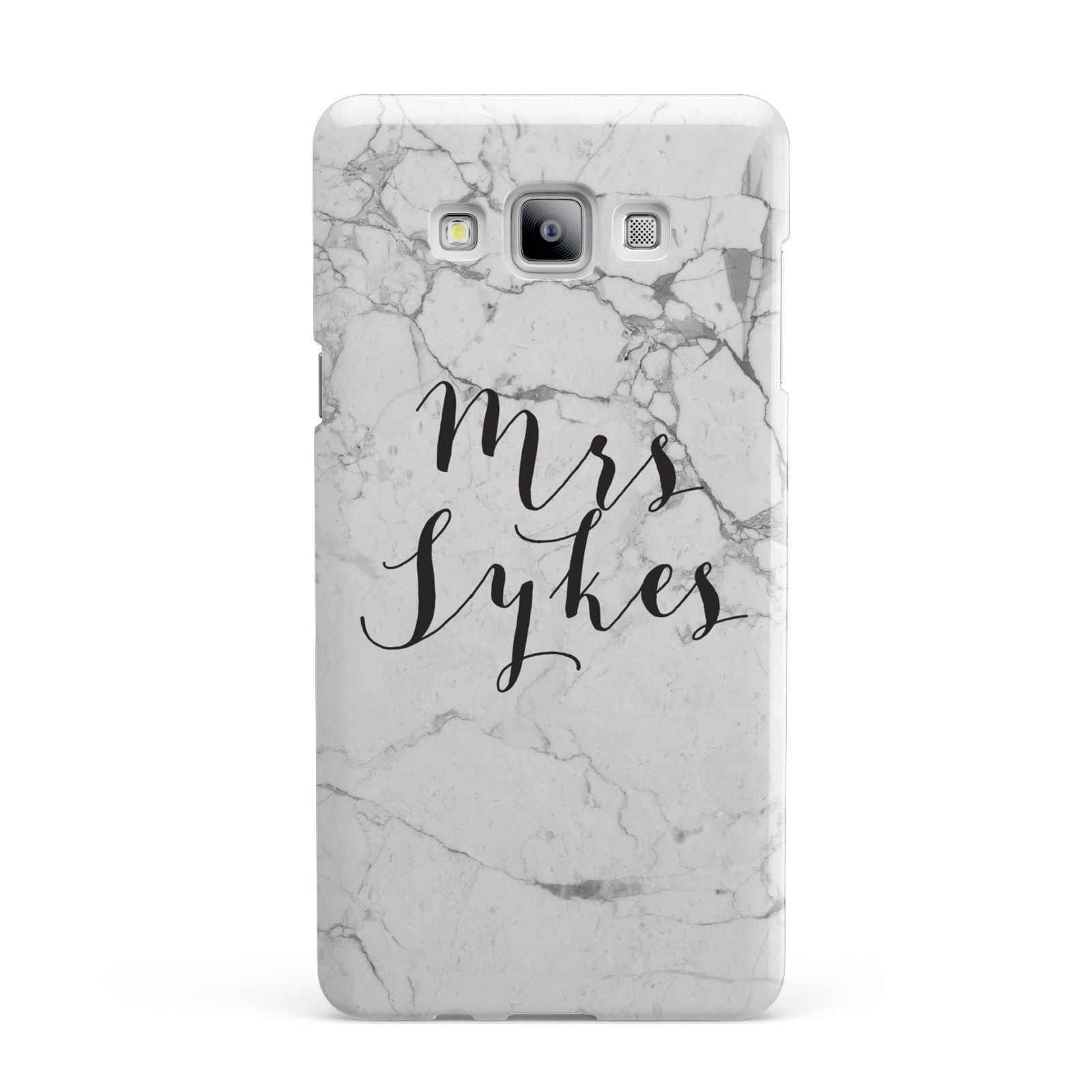 Surname Personalised Marble Samsung Galaxy A7 2015 Case