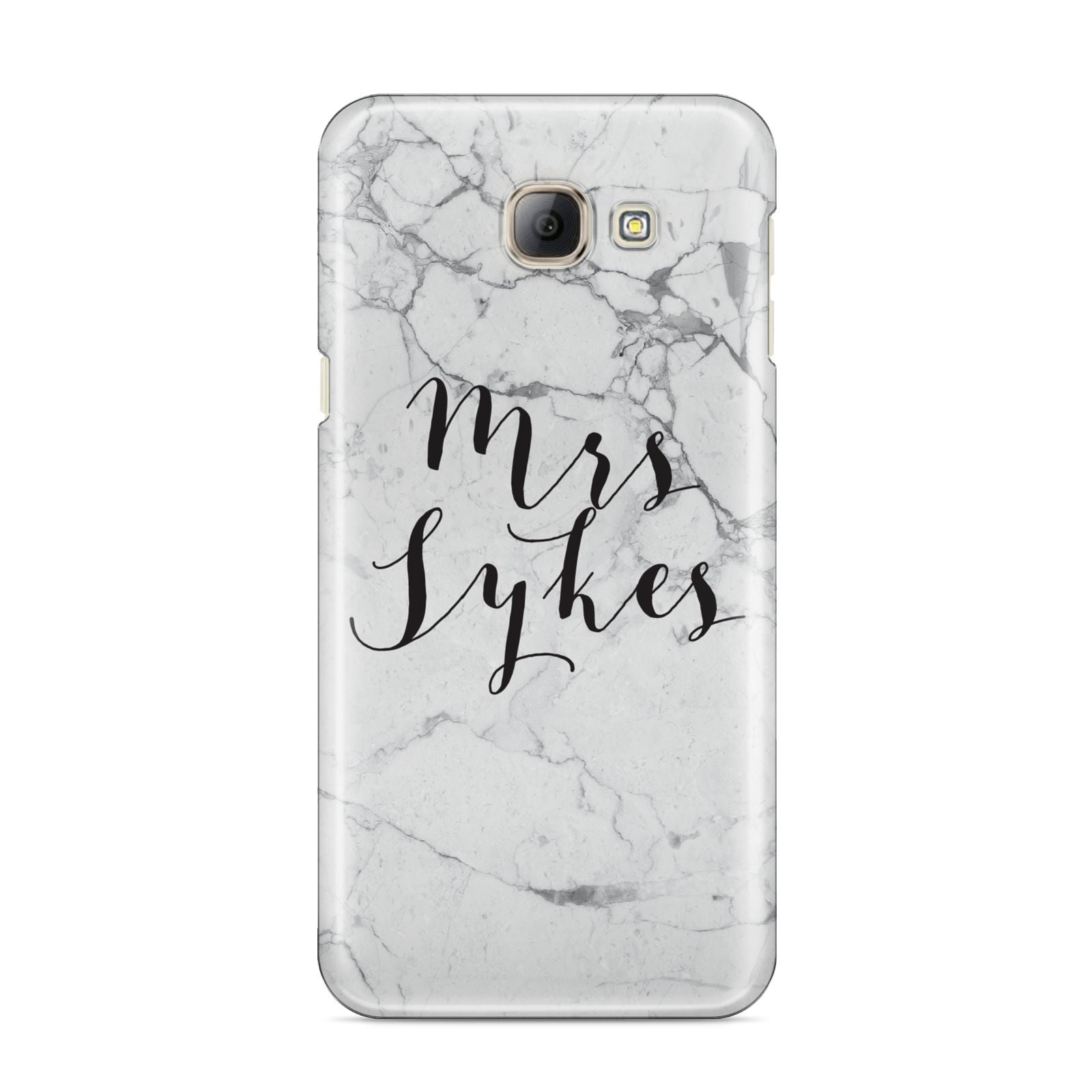 Surname Personalised Marble Samsung Galaxy A8 2016 Case