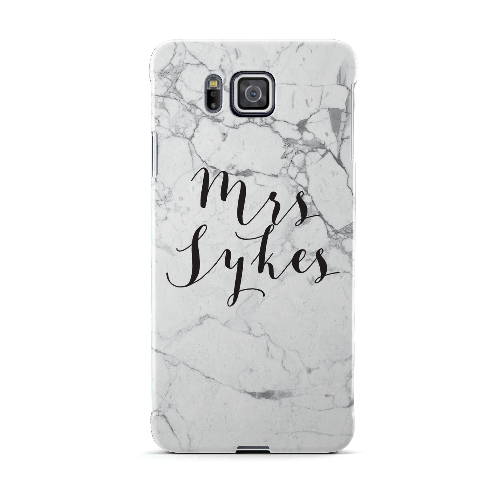 Surname Personalised Marble Samsung Galaxy Alpha Case