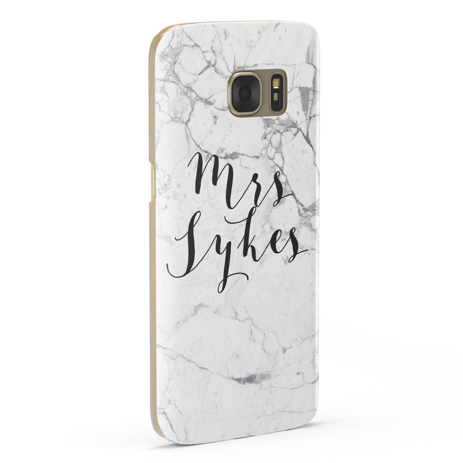 Surname Personalised Marble Samsung Galaxy Case Fourty Five Degrees