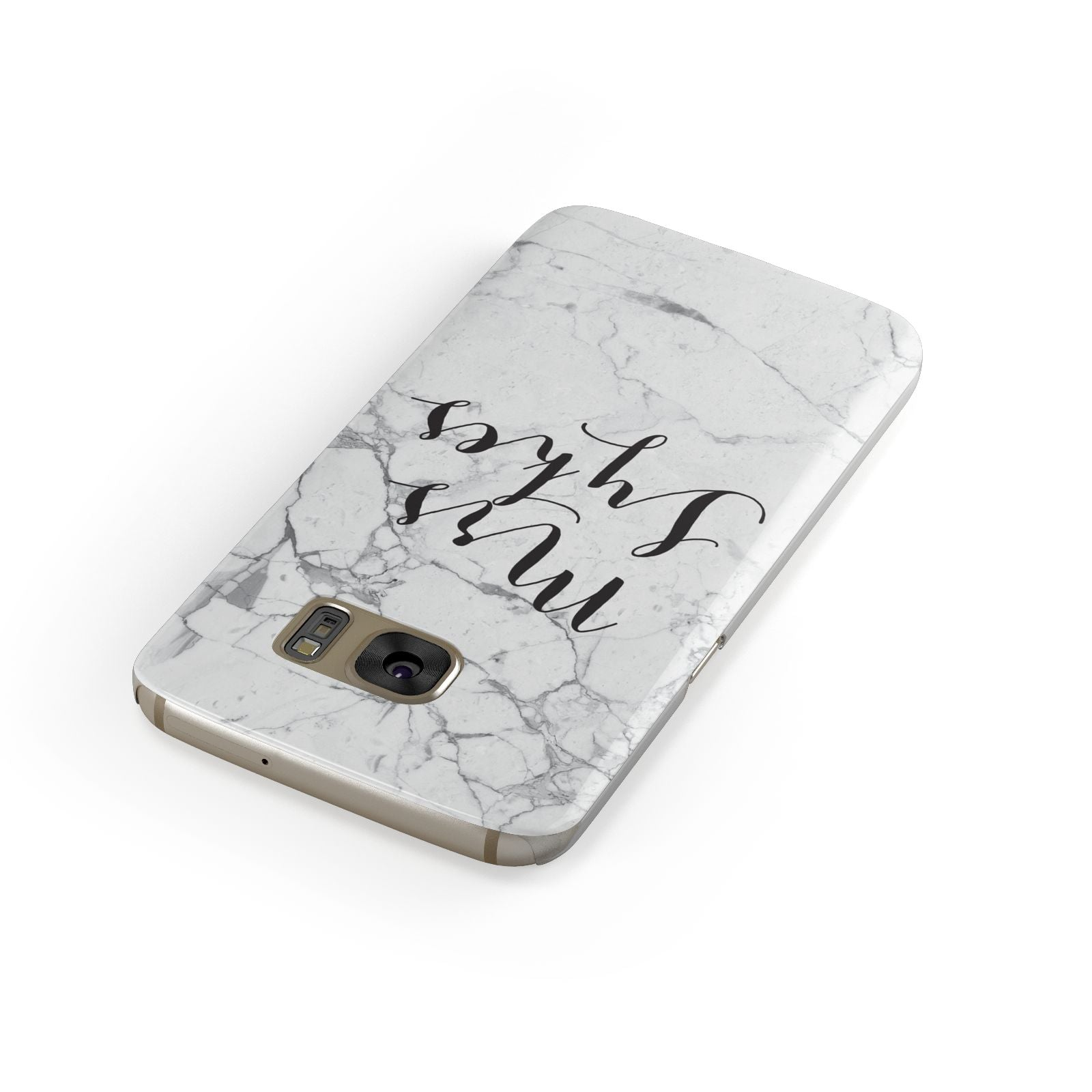 Surname Personalised Marble Samsung Galaxy Case Front Close Up