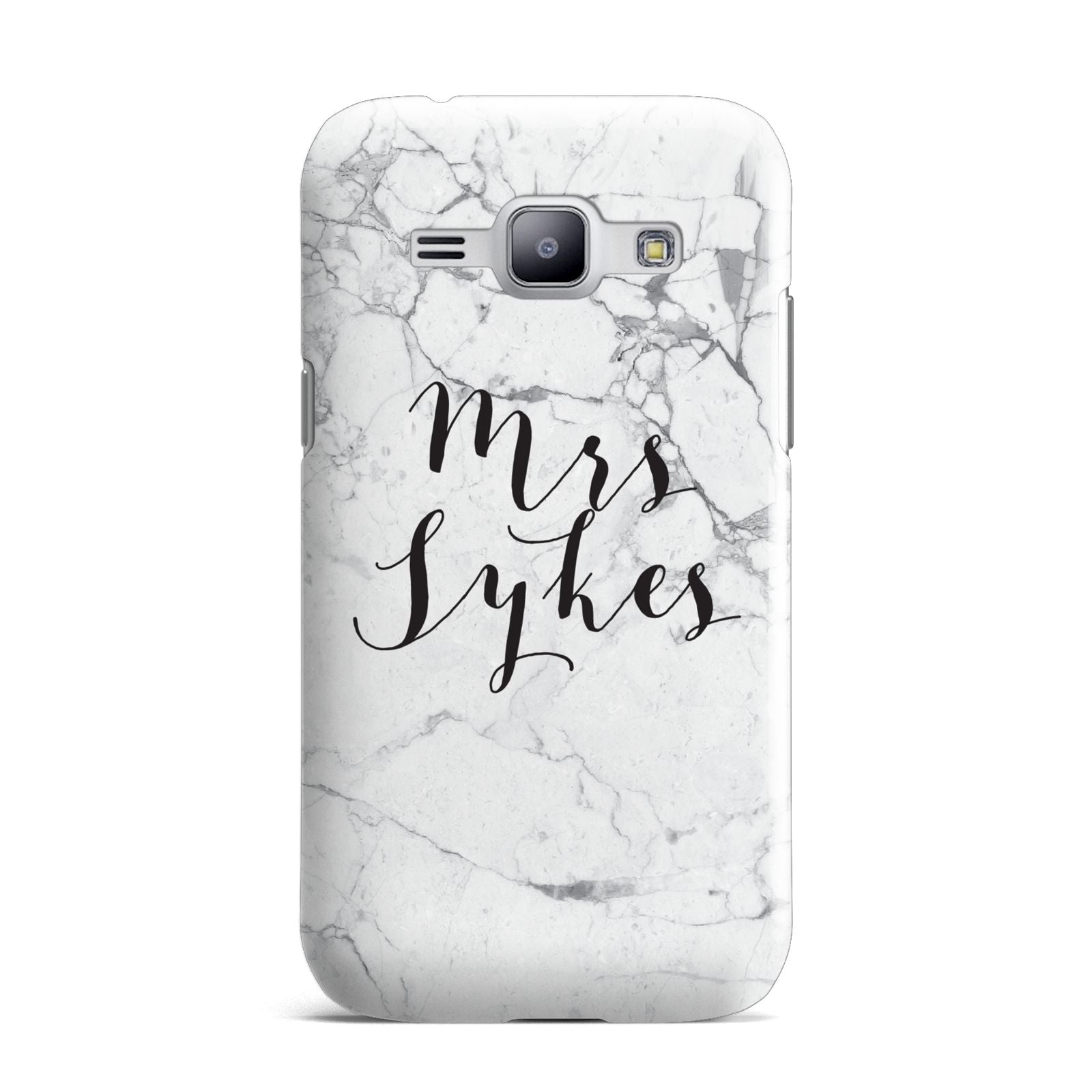 Surname Personalised Marble Samsung Galaxy J1 2015 Case