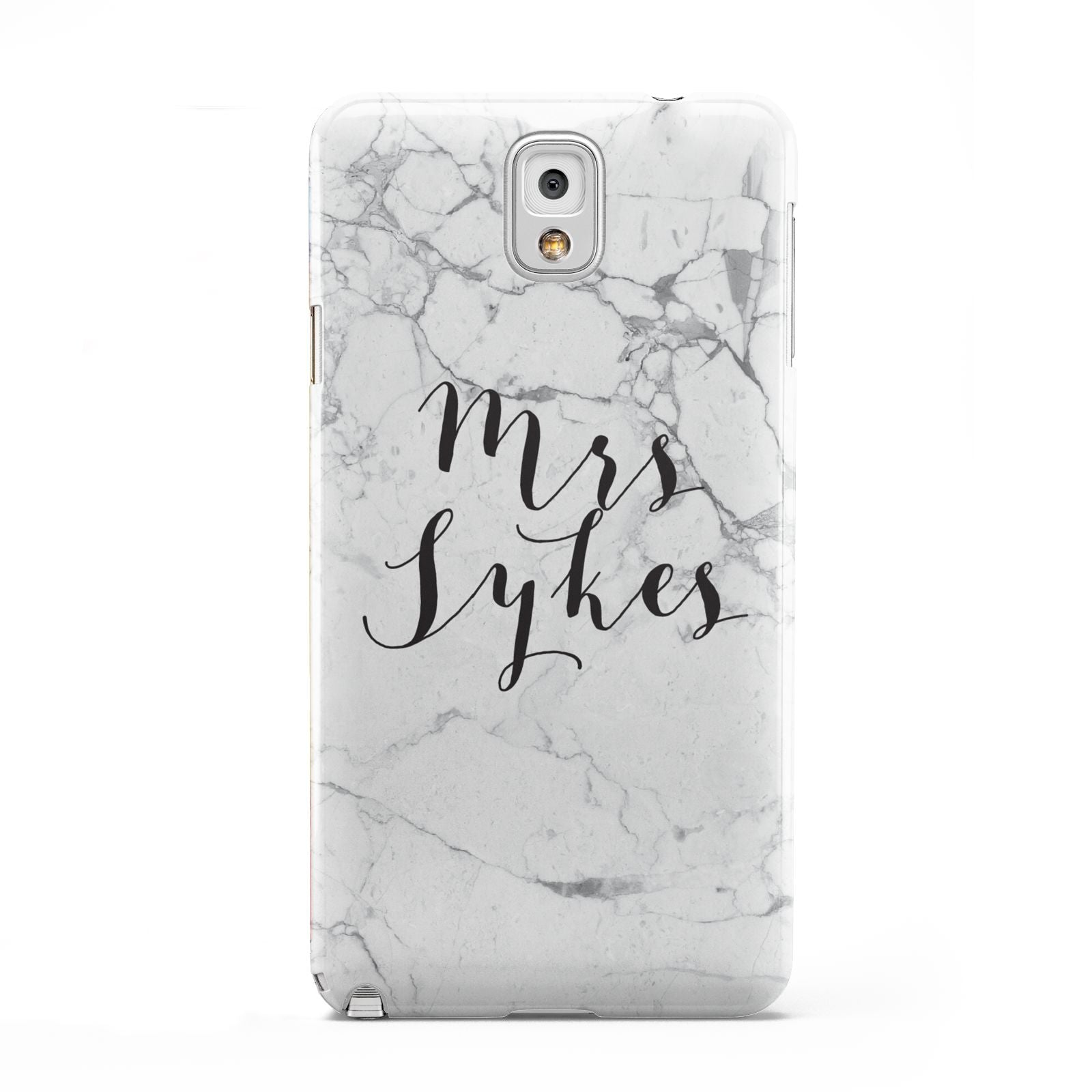 Surname Personalised Marble Samsung Galaxy Note 3 Case