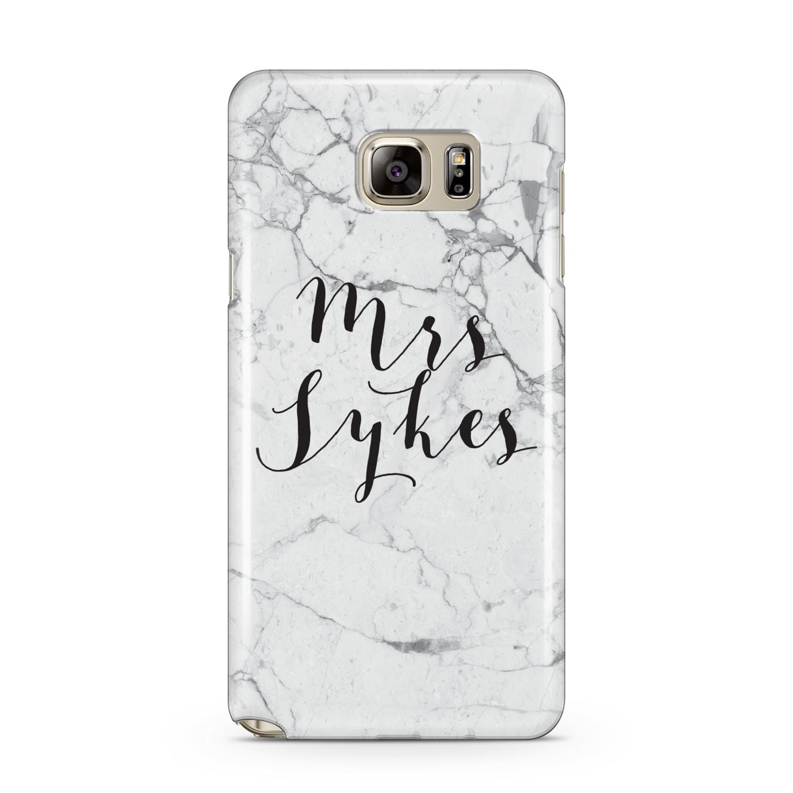 Surname Personalised Marble Samsung Galaxy Note 5 Case