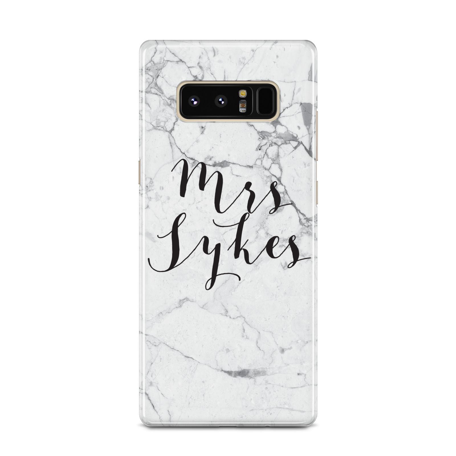 Surname Personalised Marble Samsung Galaxy Note 8 Case