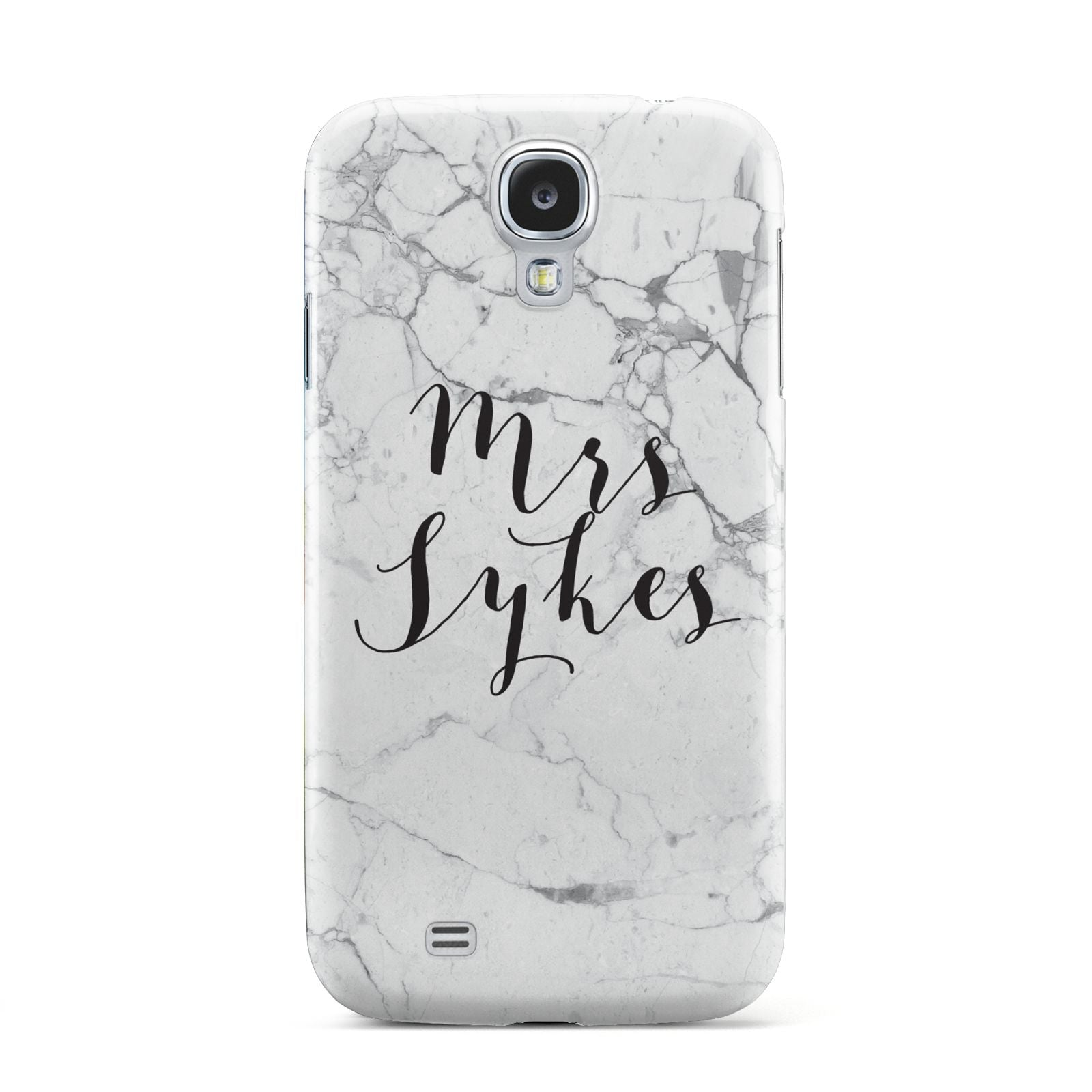 Surname Personalised Marble Samsung Galaxy S4 Case