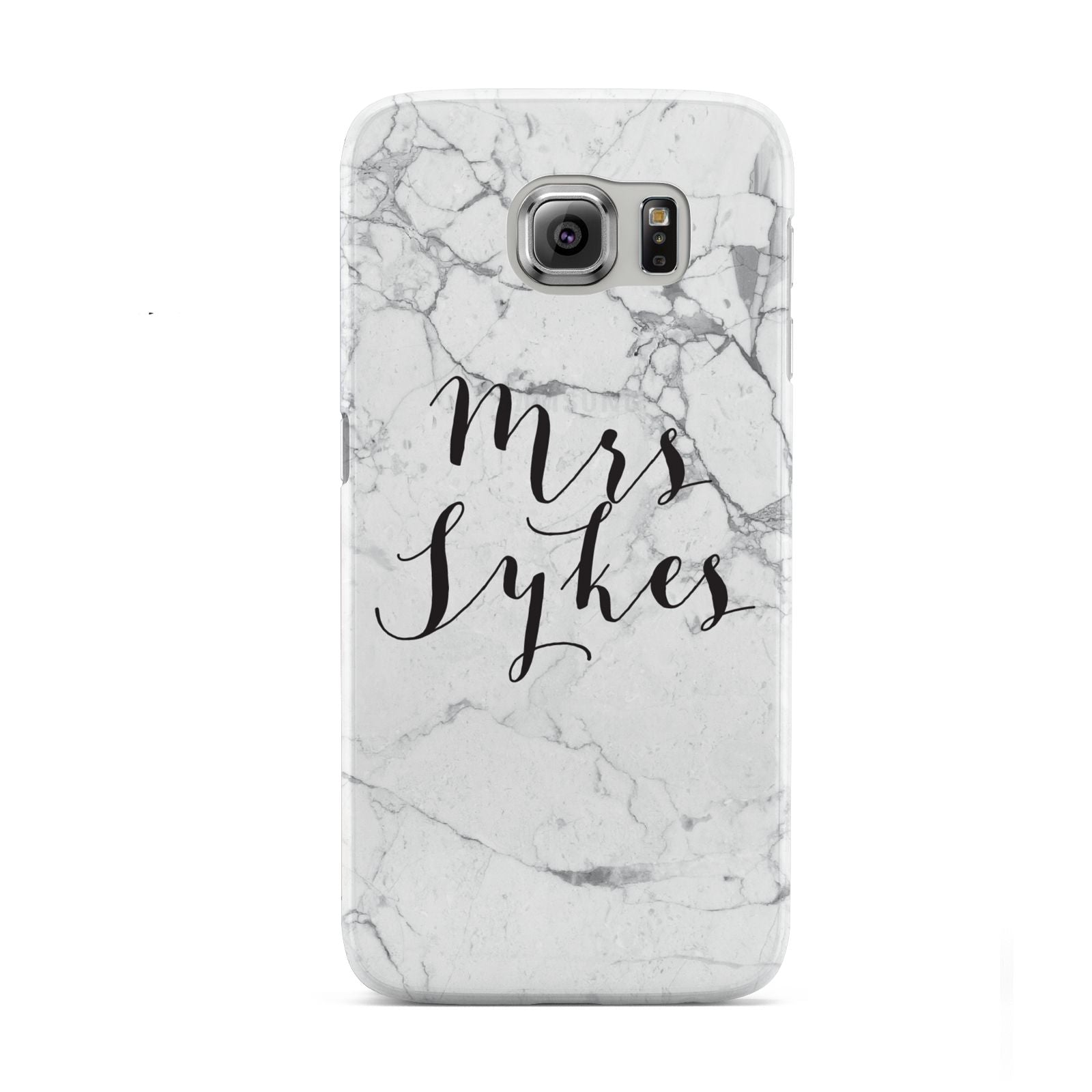 Surname Personalised Marble Samsung Galaxy S6 Case