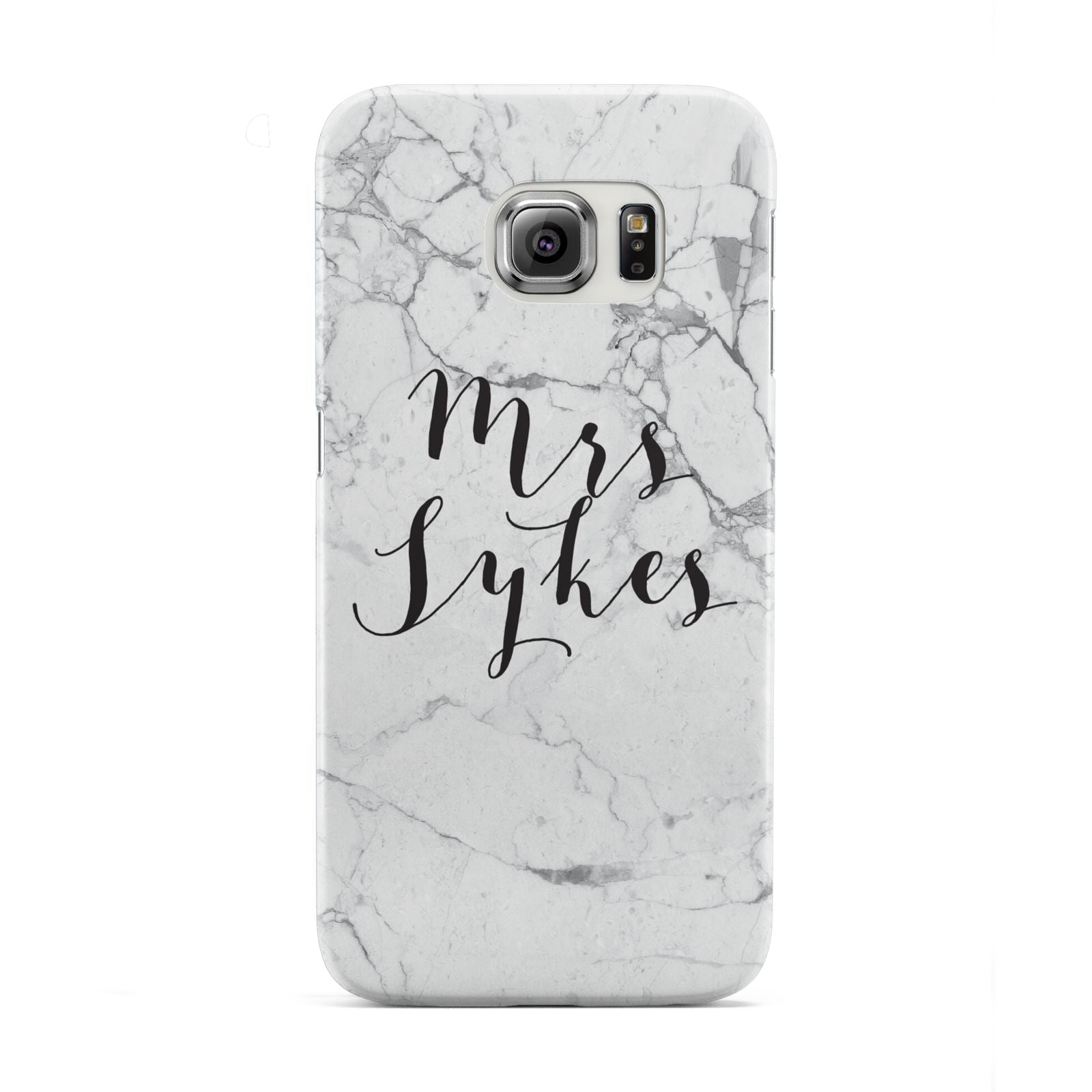 Surname Personalised Marble Samsung Galaxy S6 Edge Case