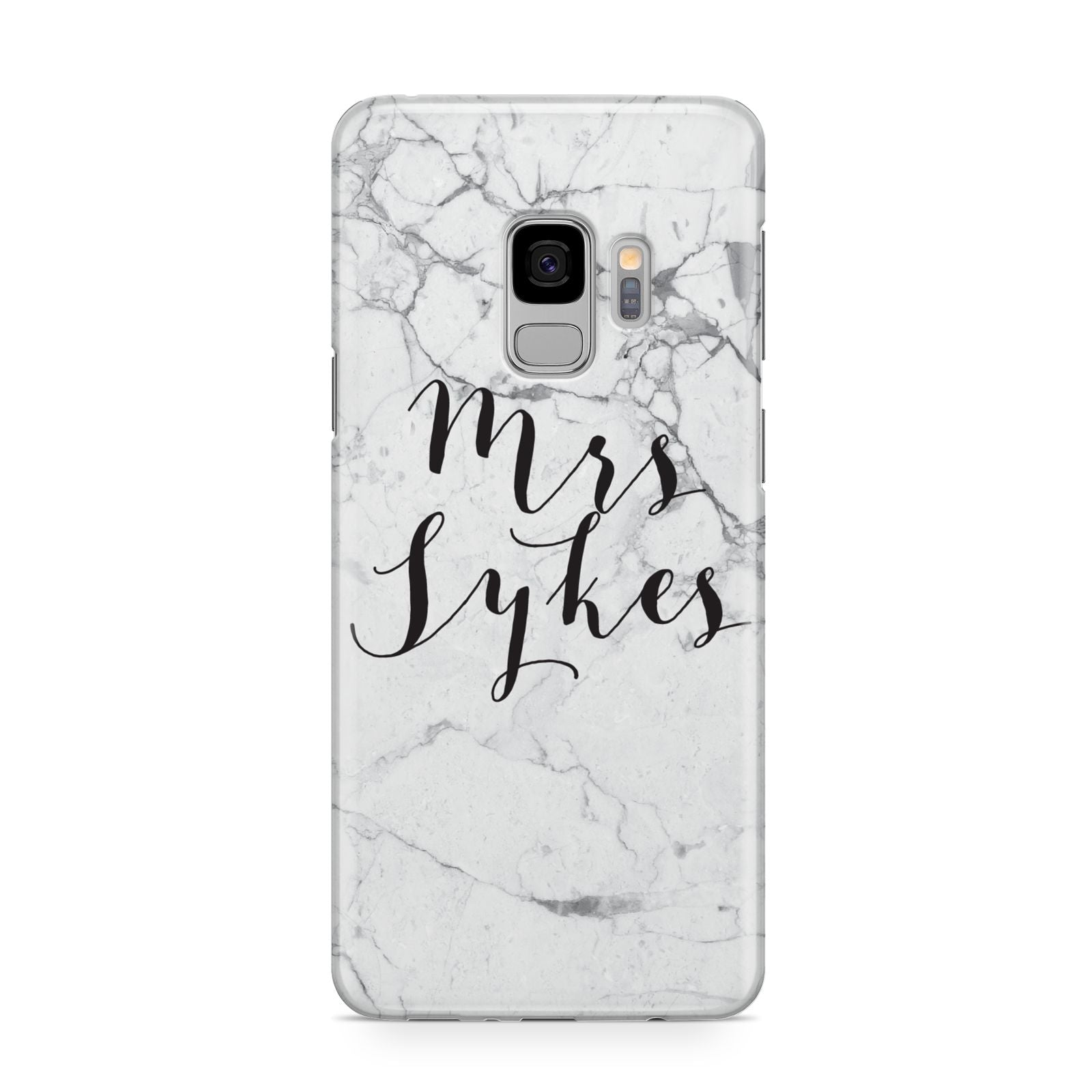 Surname Personalised Marble Samsung Galaxy S9 Case