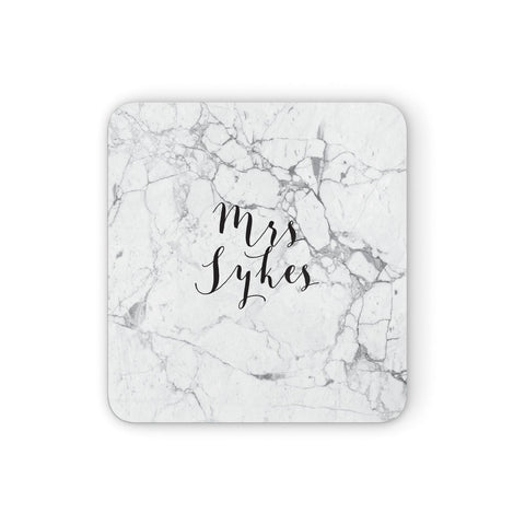 Surname Personalised Marble Coasters set of 4