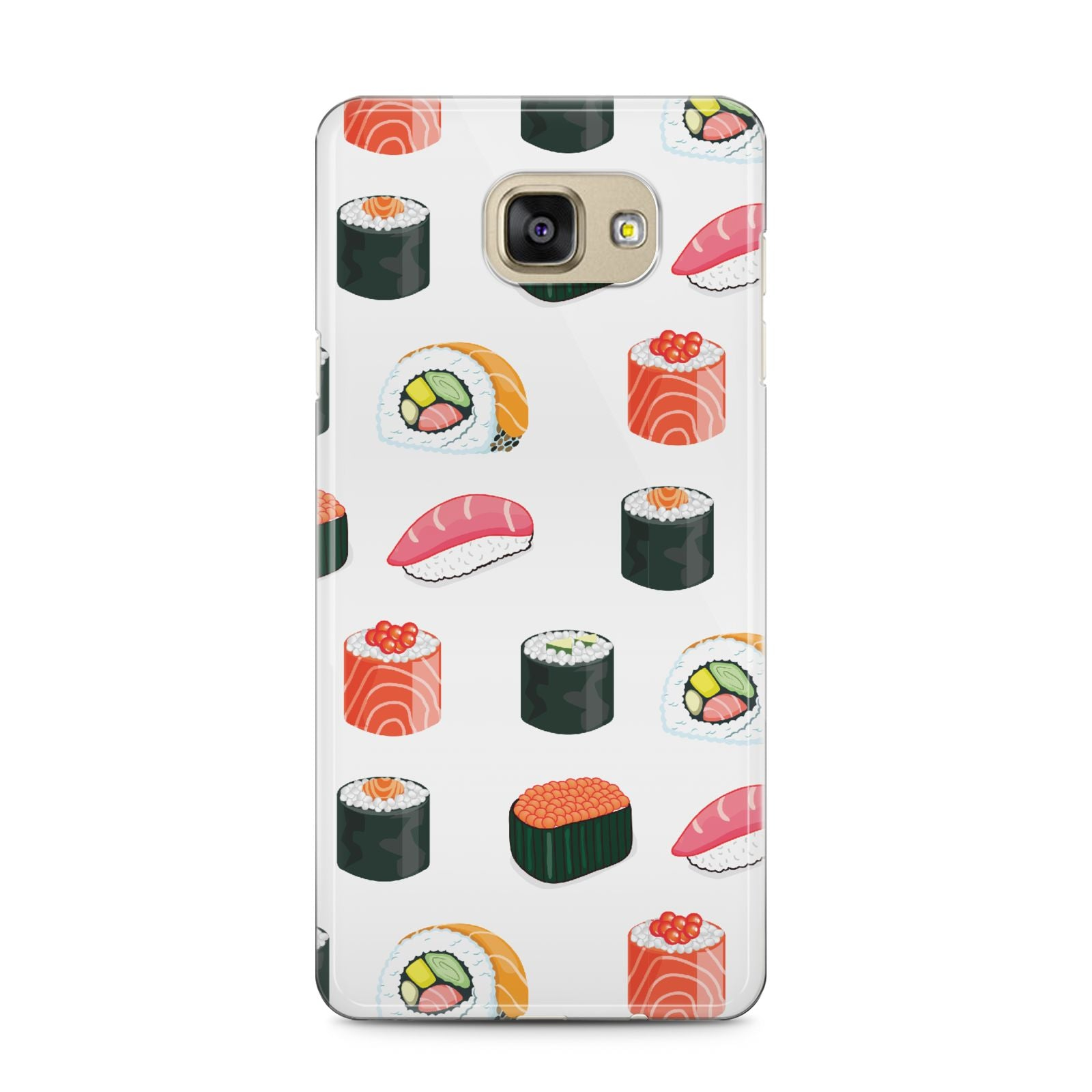 Sushi Pattern 1 Samsung Galaxy A5 2016 Case on gold phone