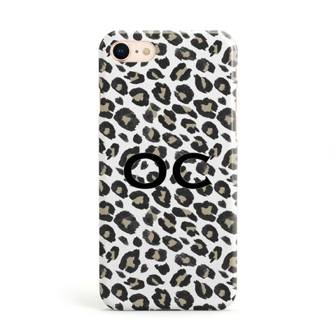 Tan Leopard Print Pattern Apple iPhone Case