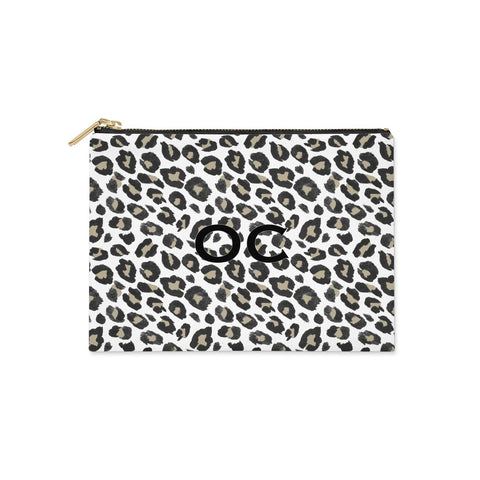 Tan Leopard Print Pattern Clutch Bag