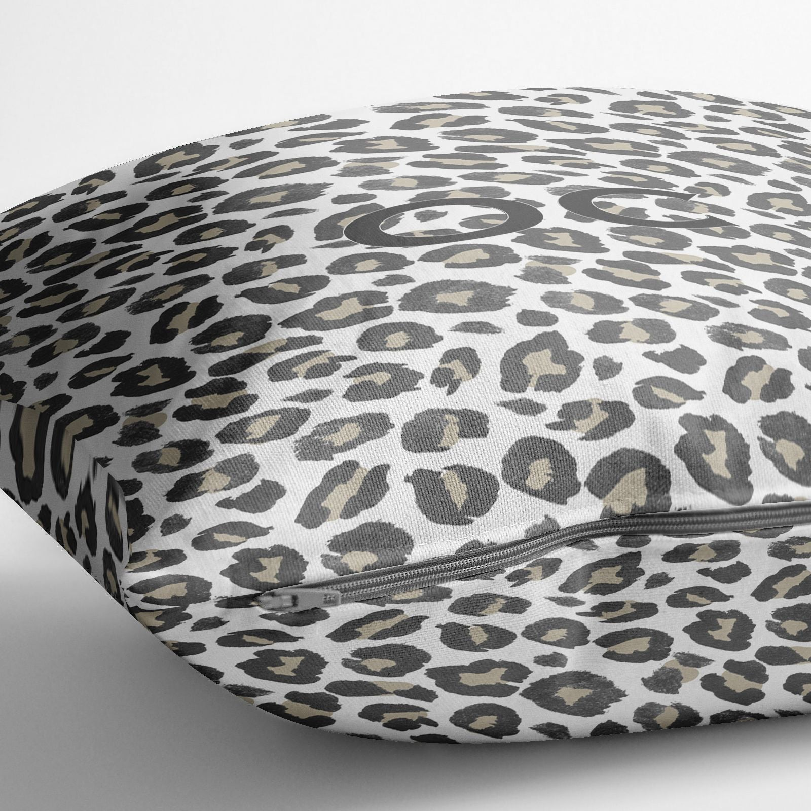 Tan Leopard Print Pattern Cotton Cushion Alternative Image