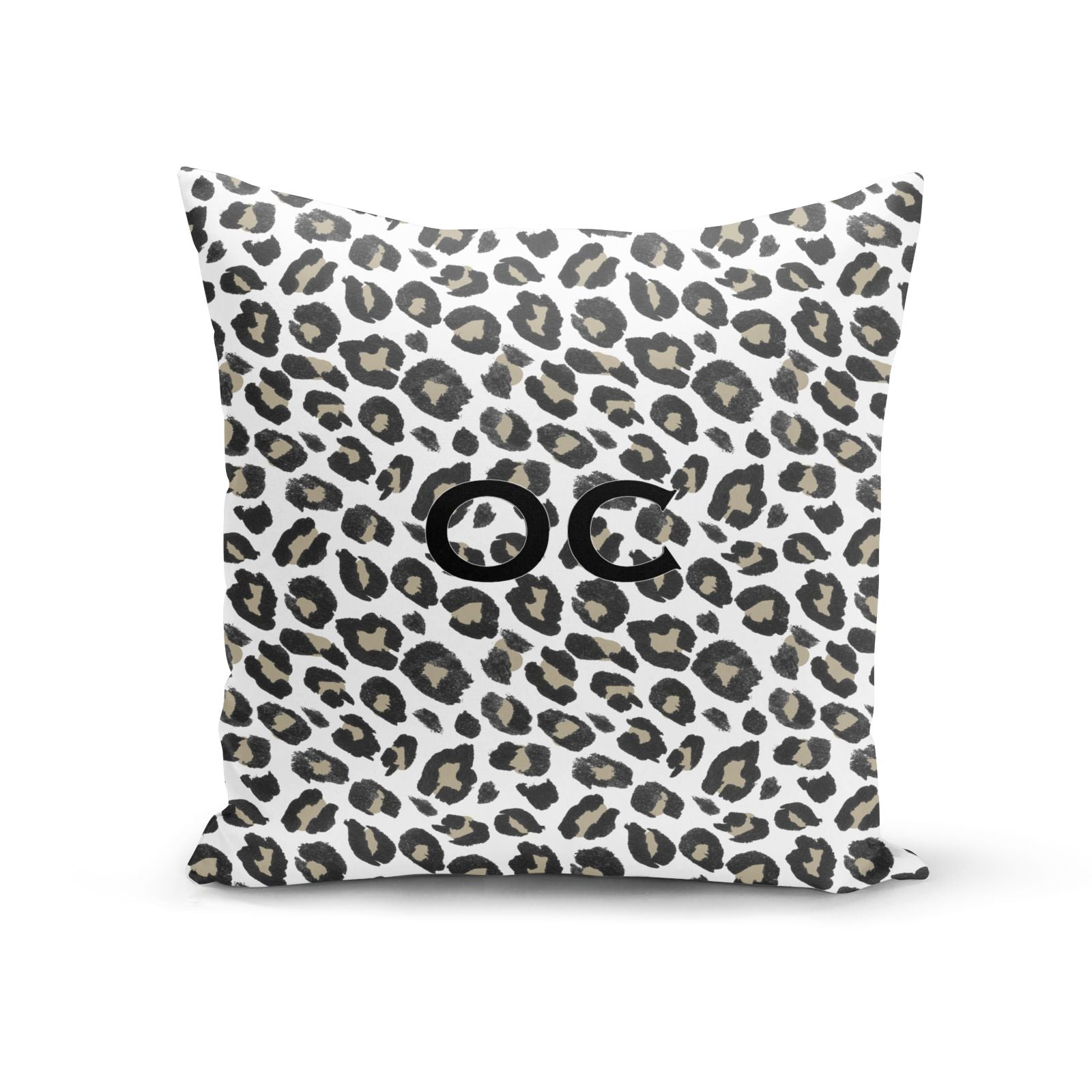 Tan Leopard Print Pattern Cotton Cushion