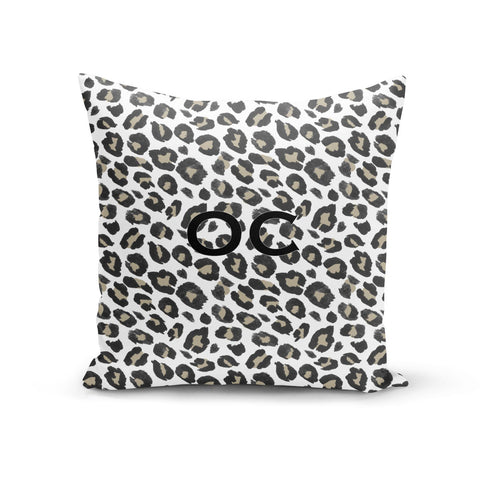 Tan Leopard Print Pattern Cushion