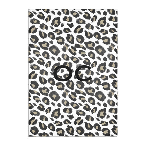 Tan Leopard Print Pattern Tea Towel