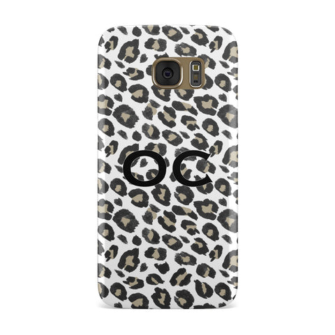 Tan Leopard Print Pattern Samsung Galaxy Case