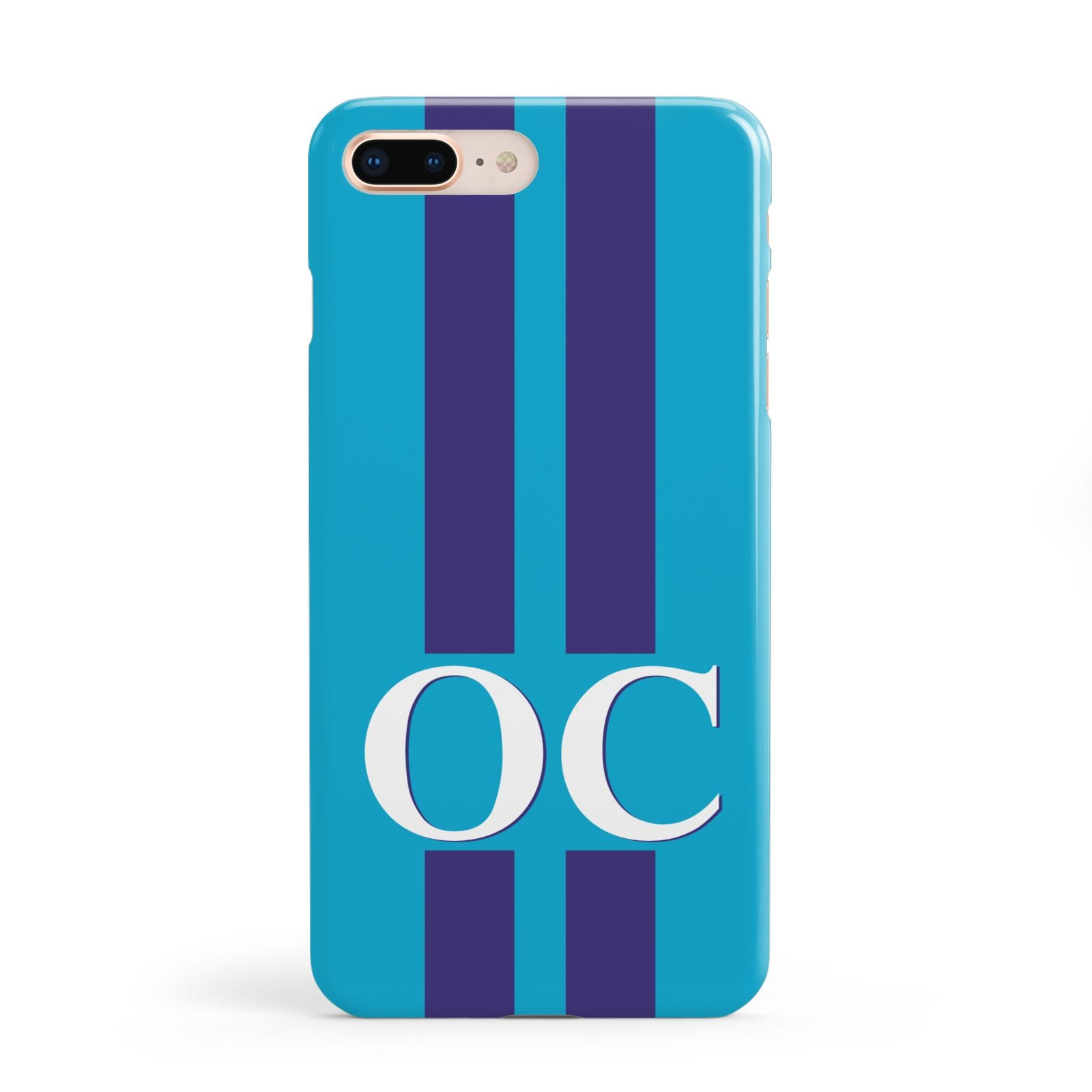 Turquoise Personalised Apple iPhone 8 Plus Case