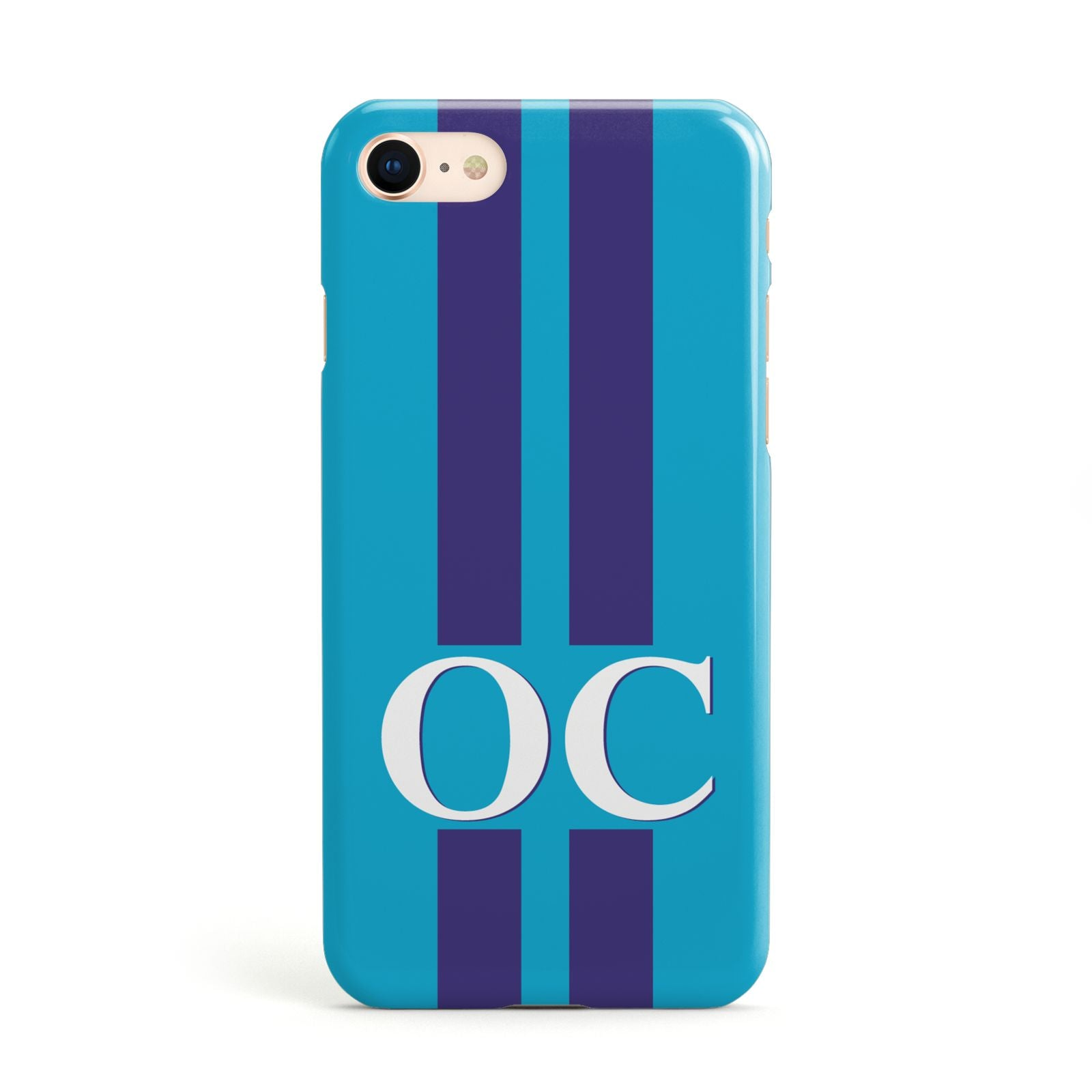 Turquoise Personalised Apple iPhone Case