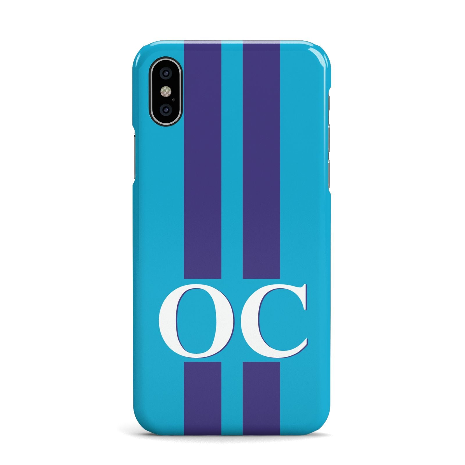 Turquoise Personalised Apple iPhone X Case