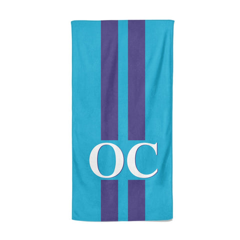 Turquoise Personalised Beach Towel